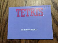 Instruction Manual for Tetris Nintendo NES Book Booklet