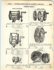 1923 PAPER AD Pflueger Golden West Imperial Fly Fishing Reel Climax Featherlight