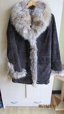 Manteau en Cuir marque OAKWOOD taille XL 42/44 couleur Marron doublure Léopard