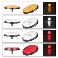 2x Universal Round Reflector LED Rear Tail Brake Stop Light for Car Truck
