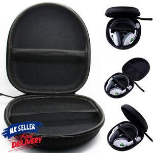 Hard Carrying Box Earphone Case Headphone Storage Bag Headset Black Black