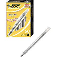 BIC Black Ink Round Stic Xtra Life Ball Pen Medium Point 1.0 mm 60 ct Pens
