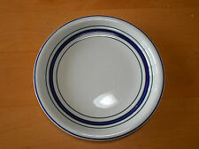 Tienshan Country Crock Blue Crock Set of 3 Salad Plates 7 5/8 Blue Green