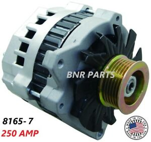 250 AMP 8165-7 ALTERNATOR CHEVY GMC NEW HIGH OUTPUT HD MADE IN USA PERFORMANCE