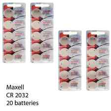 Maxell CR2032 3 Volt Lithium Coin Cells (20 Batteries)