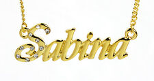 18K Gold Plated Necklace With Name SABINA - Wedding Custom Made Best Friend Gift