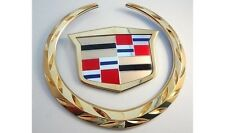 Cadillac ESCALADE 2002 03 04 05 2006 REAR WREATH & CREST EMBLEM 24K GOLD PLATED