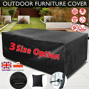 Garden Patio Rattan Furniture Table Cover Waterproof Outdoor Bench Shelter UK