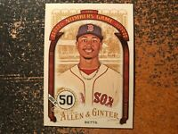 Mookie Betts Red Sox 2016 Topps Allen & Ginter The Numbers Game Insert #21