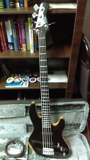 Wolf 5 five string jazz bass - upgrades - bundle pack!