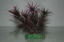 Plante d'aquarium Vert & Violet Plante avec Base lestée 13 cm