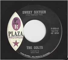 THE COLTS -  SWEET SIXTEEN  /  HEY PRETTY BABY    PLAZA 505