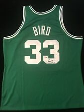 LARRY BIRD SIGNED BOSTON CELTICS MITCHELL & NESS SWINGMAN JERSEY BECKETT BAS COA