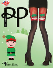 Pretty Polly One Size Christmas Fashion Tights in Black with several designs