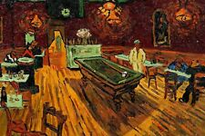 Van Gogh - Cafe avec Billard Table - Art Affiche 24x36 - 52929