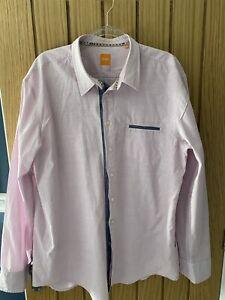 Hugo Boss Lilac And Grey Long Sleeve Mens Shirt XXXL