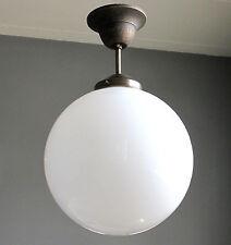 Hängelampe Deckenlampe Art Deco Jugendstil Bauhaus Opalglas Kugel Antik Lampe