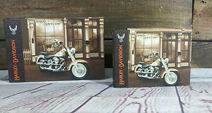 "Harley-Davidson ""1908 Model On Display"" Protective Folder Empty Binder Pair NOS"