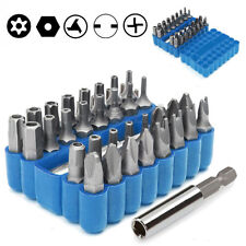 Security Bit 33Pcs Set Tamper Proof Torx Spanner Screwdriver Star Hex Holder Rod