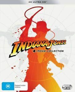 Indiana Jones 4 Movie Collection 4K Ultra HD BRAND NEW Region B