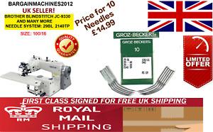 BLINDSTITCH 29-34 29BL SIZE:100/16 RS EM CURVED INDUSTRAL SEWING MACHINE NEEDLES