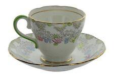 Vintage Salisbury England Bone China Pastel Floral Pattern Tea Cup and Saucer