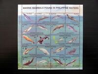 Philippines 2542 MNH Marine Life Sheet of 20 1998 CV$15 Whale/Dolphin/Orca