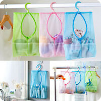 New Bathroom Storage Clothespin Mesh Housework Hanging Bag Organizer Shower Fit
