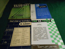 4 Bb CLARINET MUSIC BOOKS Song Gems/Top 20 Tunes/Solos/20 Hit Paraders