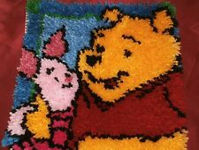 Winnie the Pooh & Piglet woolen Square pillow carpet - unfinished