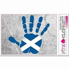Aufkleber - Schottland - Hand - Fahne - bumper sticker car flag Flagge scotland