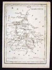 1833 Perrot Tardieu Map Ardennes Mezieres Sedan France - Miniature Antique Map