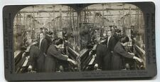 ANTIQUE PHOTO WOMAN IN TEXTILE FACTORY, JAPAN. STEREOVIEW.