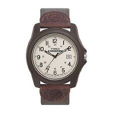 Timex Men's Expedition Camper | Brown Case Green Strap | Watch T49101 FLAWED W19