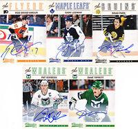 12-13 Panini Classics Gary Leeman Auto Signatures Autograph Maple Leafs 2012