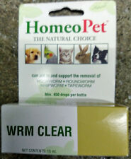 HomeoPet Wrm Clear Drop for dogs, cats, birds, rabbits, hamsters, ferrets