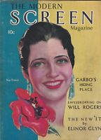 Modern Screen Nov 1930 First Issue kay Francis VG see scans