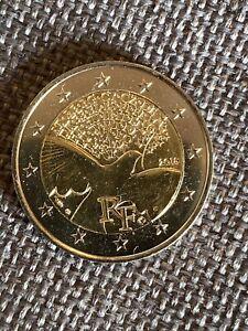 2 Euro Frankreich 2015 70 Jahre Frieden unz.