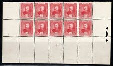 FRANCE EUROPE MONACO  STAMPS BLOCK MINT  HINGED PARTIAL SHEET  LOT 8031