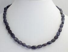 IOLITA ( AGUA Zafiro) Collar de piedras preciosas ,45cm, collar, Joya NUEVO