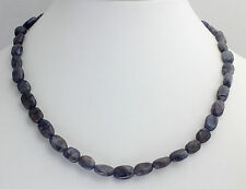 Iolite (Water Sapphire) Necklace Gemstone Necklace, 45cm, Jewelry NEW