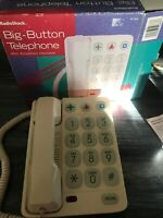 Big Button EMERGENCY Landline Radio Shack Hearing Aid ET-209 House Phone E3