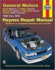 Haynes Chevrolet Cavalier RS VL z24 82-94 Owners Service Repair Manual Handbook