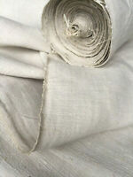 Ballen handgewebtes grobes helles Bauern Leinen 450/49,5cm um1900,Antique Linen