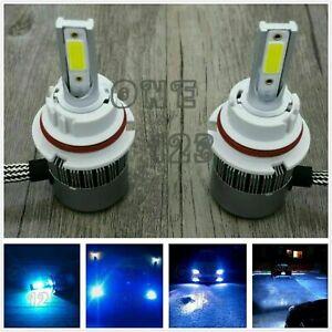 9004 HB1 CREE LED Headlights Bulbs Conversion Kit High Low Beam 8000k ice blue