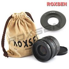 50mm f/1.8 C mount wide CCTV Lens for APS-C sensor camera + C-M4/3 OM-D GX7 G6