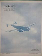 1939 PUB SNCASE LeO 45 AVION DE BOMBARDEMENT BOMBARDIER BOMBER FRENCH AD