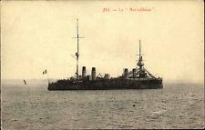 """Schiffe ~1900/10 Frankreich Kriegsmarine Schiff La """"Marseillaise"""" Schiffsfoto-AK"""