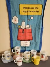 11 VINTAGE FIRE KING ANCHOR HOCKING SNOOPY, MICKEY MOUSE, MUGS, BOWLS, & MORE