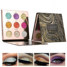 9 Colors Glitter Eyeshadow Palette Makeup Cosmetic Shimmer Eye Matte Shadow Set